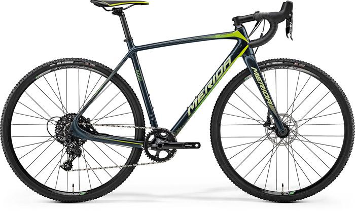 Bicicleta de cyclo cross pentru barbati Merida Cyclo Cross 6000 Gri inchis(Verde/Galben) 2018