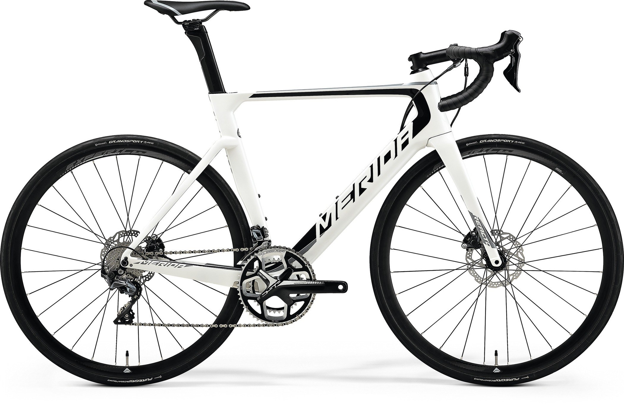 Bicicleta de sosea pentru barbati Merida Reacto Disc 5000 Alb perlat(Negru/Gri) 2018