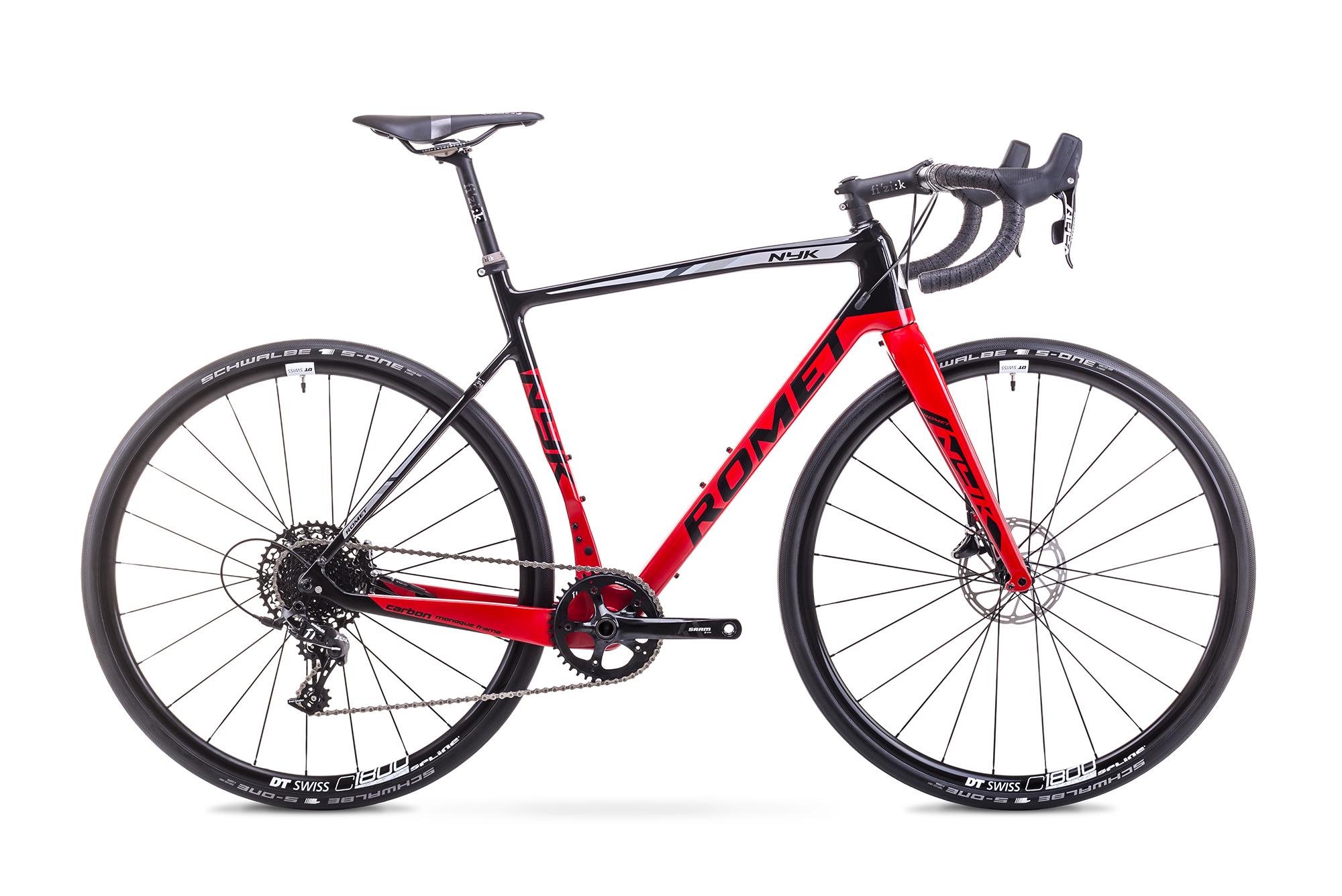 Bicicleta de cyclo cross pentru Barbati Romet NYK Negru/Rosu 2018