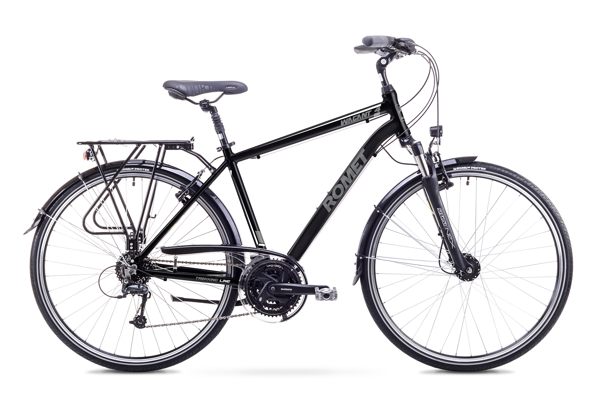 Bicicleta de trekking/oras pentru Barbati Romet WAGANT 4 LIMITED Negru/Alb 2018