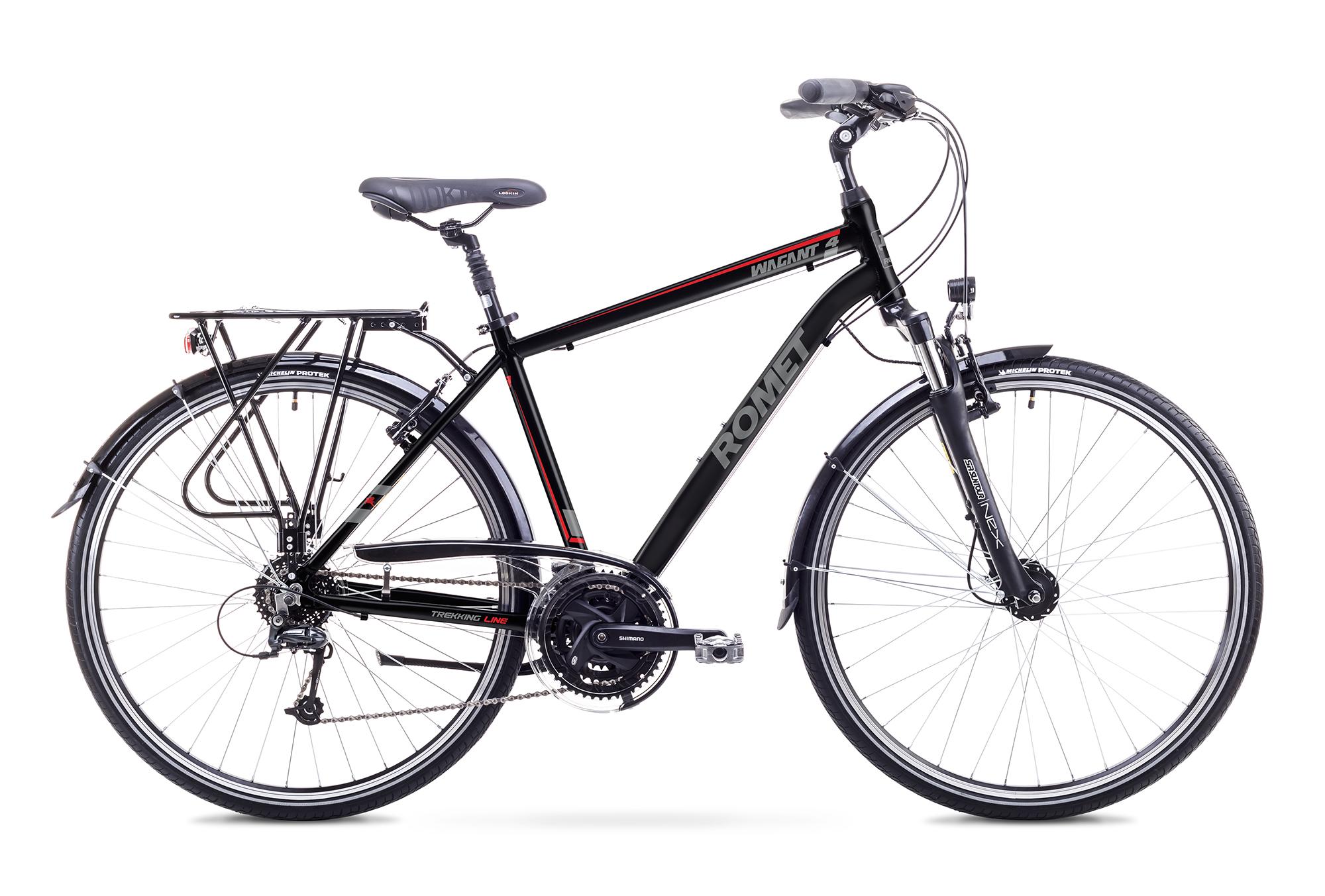 Bicicleta de trekking/oras pentru Barbati Romet WAGANT 4 LIMITED Negru/Rosu 2018