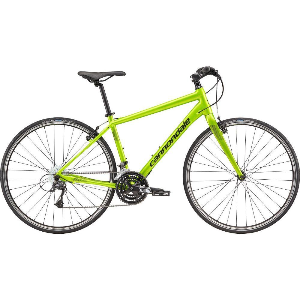 Bicicleta urbana pentru barbati Cannondale Quick 4 M Verde neon 2018
