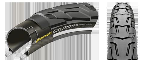 Anvelopa Continental CityRide II Reflex Puncture-ProTection 37-622 28*1 3/8*1 5/8 negru