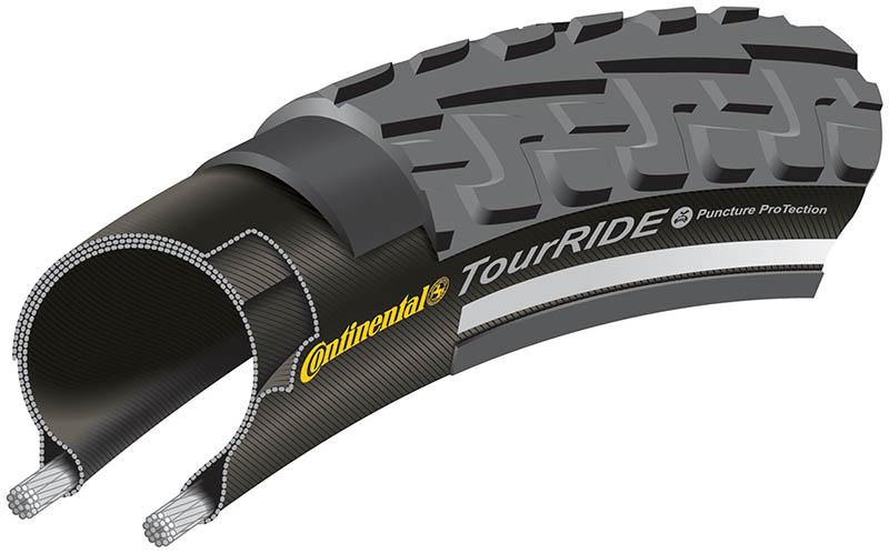 Anvelopa Continental Ride Tour Reflex Puncture-ProTection 47-622 (28*1.75) negru/negru