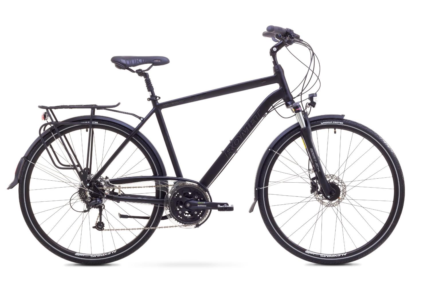 Bicicleta trekking/city pentru barbati Romet WAGANT 5 Negru 2018