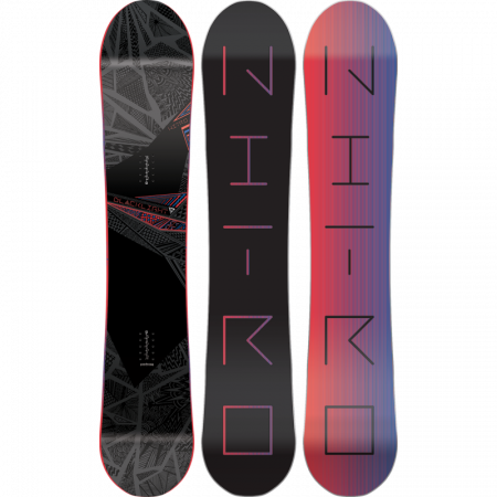 Placa Snowboard Nitro Blacklight Black/Pink