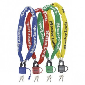 Antifurt Master Lock lant cu lacat si cheie 900 x 6mm - diverse culori
