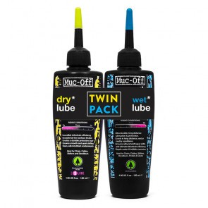 Muc-Off 120ml Wet&Dry Twin Pack