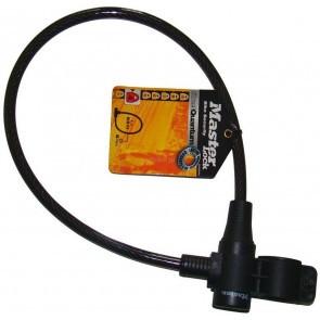 Antifurt Master Lock cablu cu cheie si suport prindere 650 x 8mm - diverse culori