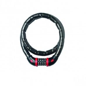 Antifurt MasterLock cablu otel armat cu cifru 1m  x 18 mm Negru