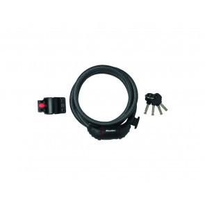 Antifurt MasterLock cablu spiralat cu cheie 1.8m x 12mm Negru