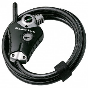 Antifurt Master Lock cablu Python 1.8m x 10mm Negru