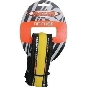 Anvelopa Maxxis 700X23C Fuse black-yellow 27TPI wire
