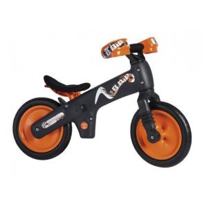 Bicicleta pentru copii fara pedale Bellelli B-Bip Gri/Portocaliu