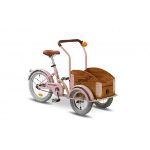 Bicicleta cargo unisex Pegas Mini Cargo 1 viteza Roz Bujor
