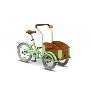Bicicleta cargo unisex Pegas Mini Cargo 1 viteza Verde Fistic