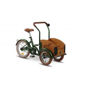 Bicicleta cargo unisex Pegas Mini Cargo 1 viteza Verde Smarald