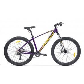 Bicicleta de munte pentru barbati Pegas Drumuri Grele 17 inch Mov/Galben