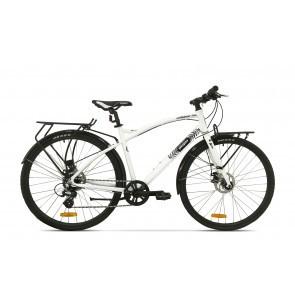 Bicicleta de oras pentru barbati Pegas Hoinar 8S Alb Perlat