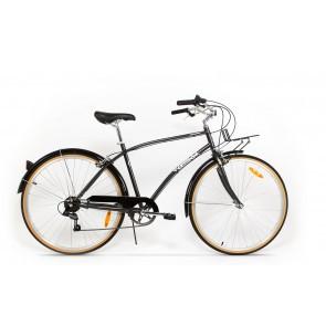 Bicicleta de oras pentru barbati Pegas Popular 7 viteze Otel Gri Spatial