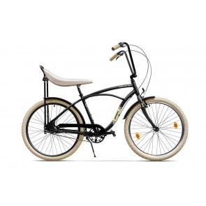 Bicicleta de oras pentru barbati Pegas Strada 1 Aluminiu 3S Negru Mat