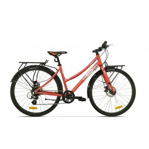 Bicicleta de oras pentru femei Pegas Hoinar 8S Roz Mat