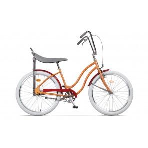 Bicicleta de oras pentru femei Pegas Strada 2 2S Piersica Caini