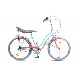 Bicicleta de oras pentru femei Pegas Strada 2 Aluminiu 3S Turcoaz Mofturos