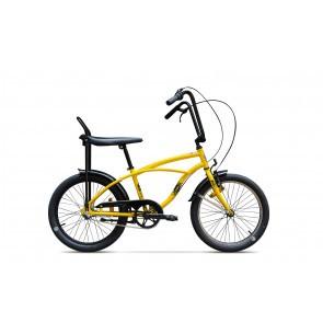 Bicicleta de oras unisex Pegas Strada Mini 1 viteze Galben Bondar
