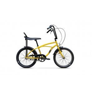 Bicicleta de oras unisex Pegas Strada Mini 2017 1 viteza Galben Bondar