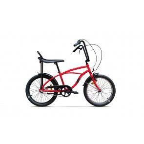 Bicicleta de oras unisex Pegas Strada Mini 2017 1 viteza Rosu Bomboana