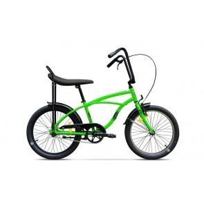 Bicicleta de oras unisex Pegas Strada Mini 2017 1 viteza Verde Neon