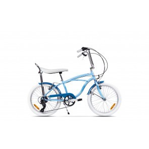 Bicicleta de oras unisex Pegas Strada Mini 2017 7 viteze Bleu Arctic