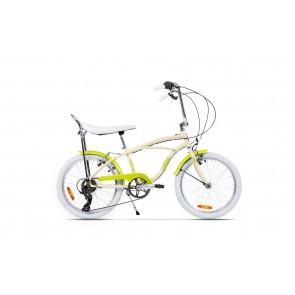 Bicicleta de oras unisex Pegas Strada Mini 2017 7 viteze Crem Inghetata