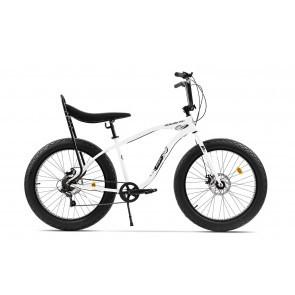 Bicicleta Fatbike unisex Pegas Cutezator EV banana 7 viteze Alb Perlat