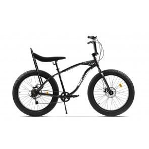 Bicicleta Fatbike unisex Pegas Cutezator EV banana 7 viteze Negru Stelar