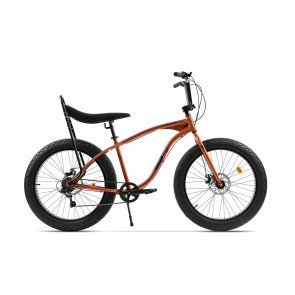 Bicicleta Fatbike unisex Pegas Cutezator EV banana 7 viteze Portocaliu Cupru