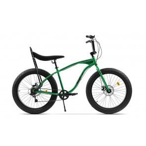Bicicleta Fatbike unisex Pegas Cutezator EV banana 7 viteze Verde Smarald