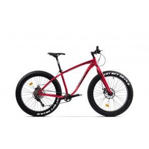 Bicicleta Fatbike unisex Pegas Suprem FX 17 inch Rosu Mat