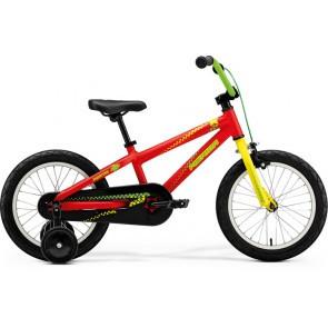 Bicicleta pentru copii Merida Matts J16 Rosu(Verde/Galben) 2018