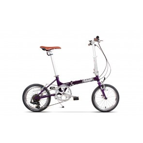 Bicicleta pliabila unisex Pegas Teoretic 7S pliabil Mov Mat