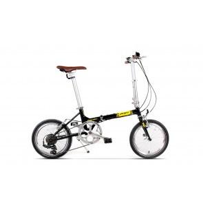 Bicicleta pliabila unisex Pegas Teoretic 7S pliabil Negru Stelar
