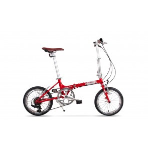 Bicicleta pliabila unisex Pegas Teoretic 7S pliabil Rosu Mat