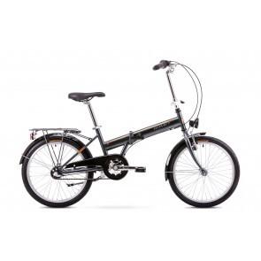Bicicleta pliabila Unisex Romet Wigry 2 Grafit/Portocaliu 2019