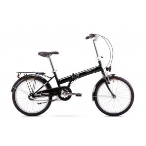 Bicicleta pliabila Unisex Romet Wigry 2 Negru/Alb 2019