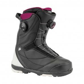 Boots snowboard femei Nitro Cypress Dual BOA Negru/Alb 19/20