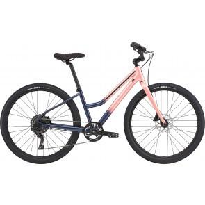 Bicicleta de oras pentru femei Cannondale Treadwell 2 Remixte Bleumarin/Rosu somon 2020