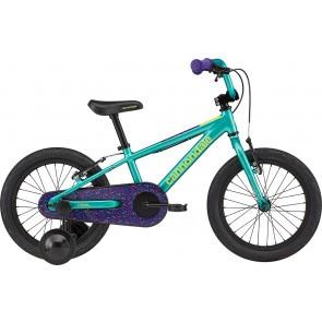 Bicicleta cu roti ajutatoare Cannondale Trail Freewheel 16 Turcoaz 2020
