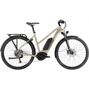 Bicicleta electrica pentru femei Cannondale Tesoro Neo Remixte Bej auriu 2020