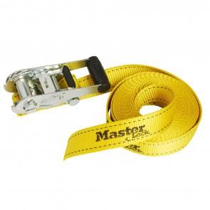 Chinga fixare reglabila cu clichet MasterLock 6m x 35mm Galben
